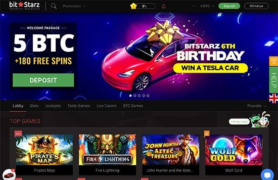 BitStarz Casino looks like this.