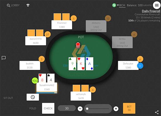 Blockchain Poker gameplay.