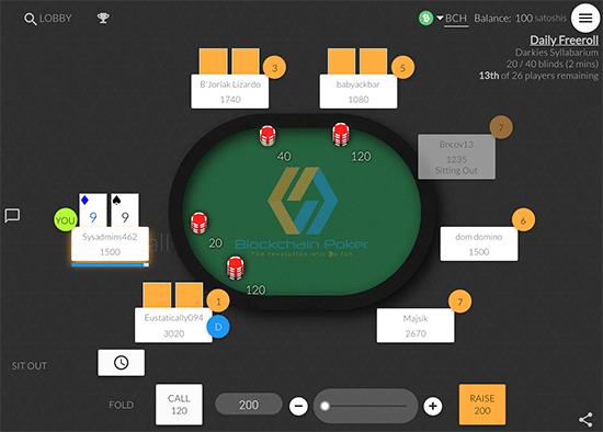 Blockchain Poker tournaments.
