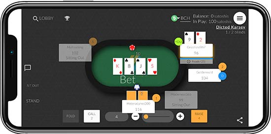 Blockchain Poker in mobile devices.
