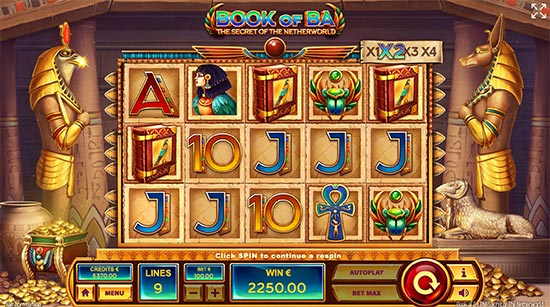 Book of Ba slot by Tom Horn Gaming.