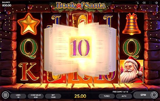 Book of Santa slot by Endorphina.