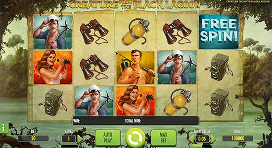 Creature from the Black Lagoon slot by NetEnt.