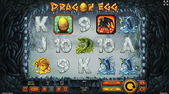 Dragon Egg slot by Tom Horn Gaming.