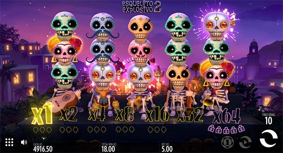 Esqueleto Explosivo 2 slot by Thunderkick.