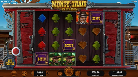 Money Train slot by Relax Gaming.