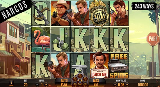 Narcos slot by NetEnt.