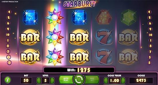 Starburst slot by NetEnt.