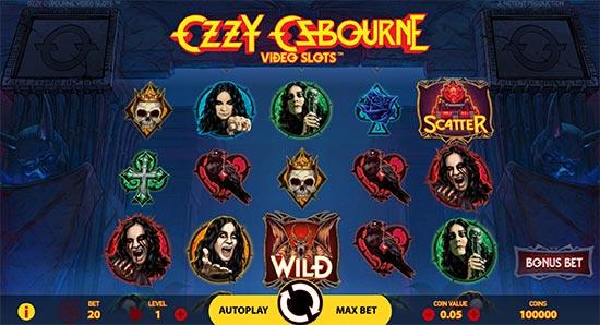 Ozzy Osbourne slot by NetEnt.