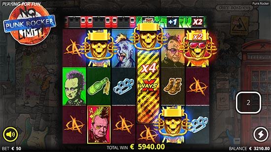 Punk Rocker slot by No Limit City.