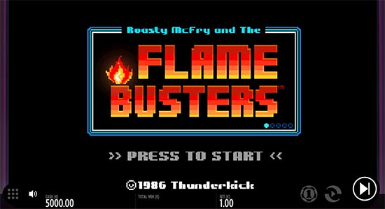 Roasty McFry and the Flame Busters slot by Thunderkick.