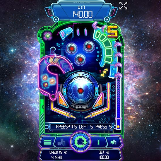 Spinball game by Tom Horn Gaming.
