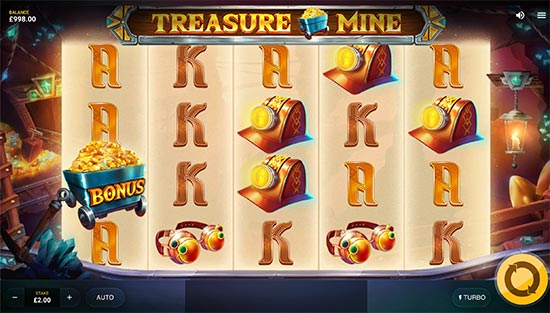 Treasure Mine slot by Red Tiger Gaming.
