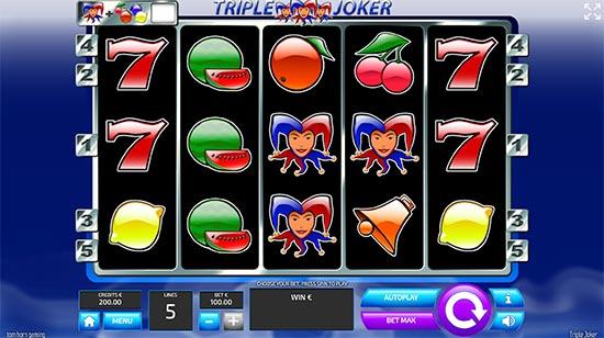 Triple Joker slot by Tom Horn Gaming.