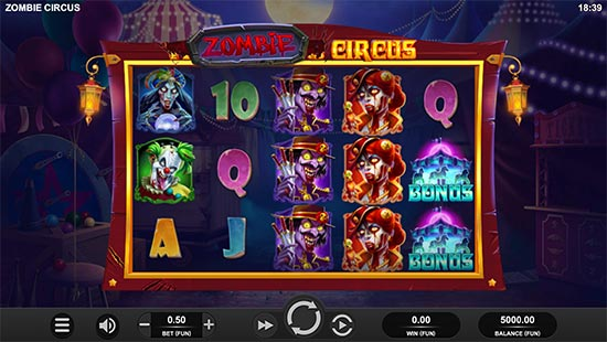 Zombie Circus slot by Relax Gaming.