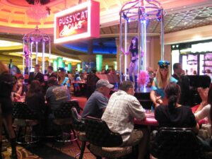 Live action from the Pussy Cat Dolls Casino floor