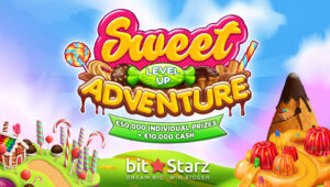 Play the Sweet Level Up Adventure promotion at BitStarz to win €10k in cash!