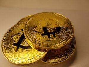 A Stack of Bitcoins waiting to be picked up