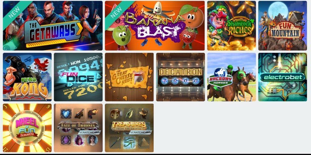 CasinoFair instant games
