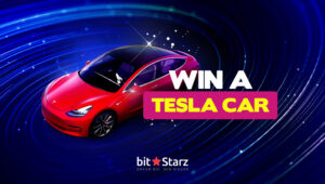 Win a brand-new Tesla Model 3 worth €45,000 at BitStarz!