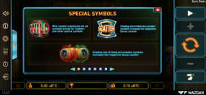 There are lots of special features and symbols in Sonic Reels slot