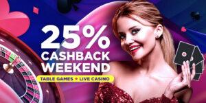Get 25% cashback this weekend at BitStarz Casino!