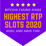 Highest RTP Bitcoin Slots 2020 Purple shield logo