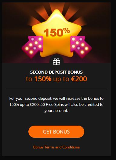 televega second deposit bonus