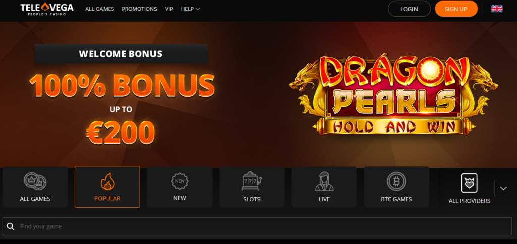 televega casino welcome bonus