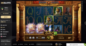 King of Gods slot developed by Skywind Group