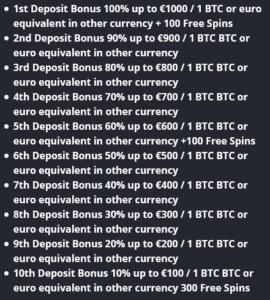 Betflip.io bonus information