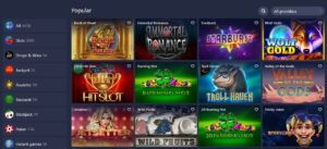 Betmaster available games