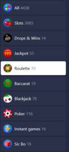 Betmaster crypto games