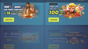 Casinoin bonus info