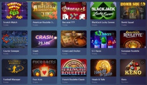 Casinoin instant game selection