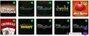 Rocket Casino Table Games