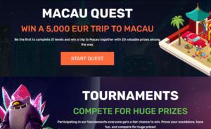 Winz.io Macau Quest
