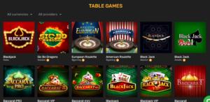 Winz.io table games