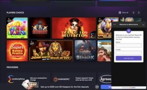 BEEM Casino live chat