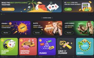 Bc.game casino lobby