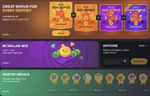Bc.game casino welcome bonus