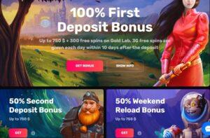 Casinomia first deposit bonus