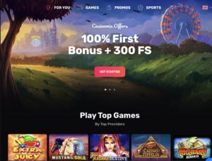 Casinomia main page