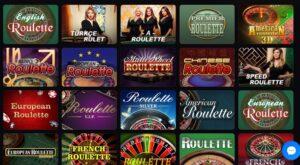 Casinomia table games