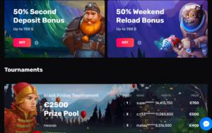 Casinomia welcome bonuses