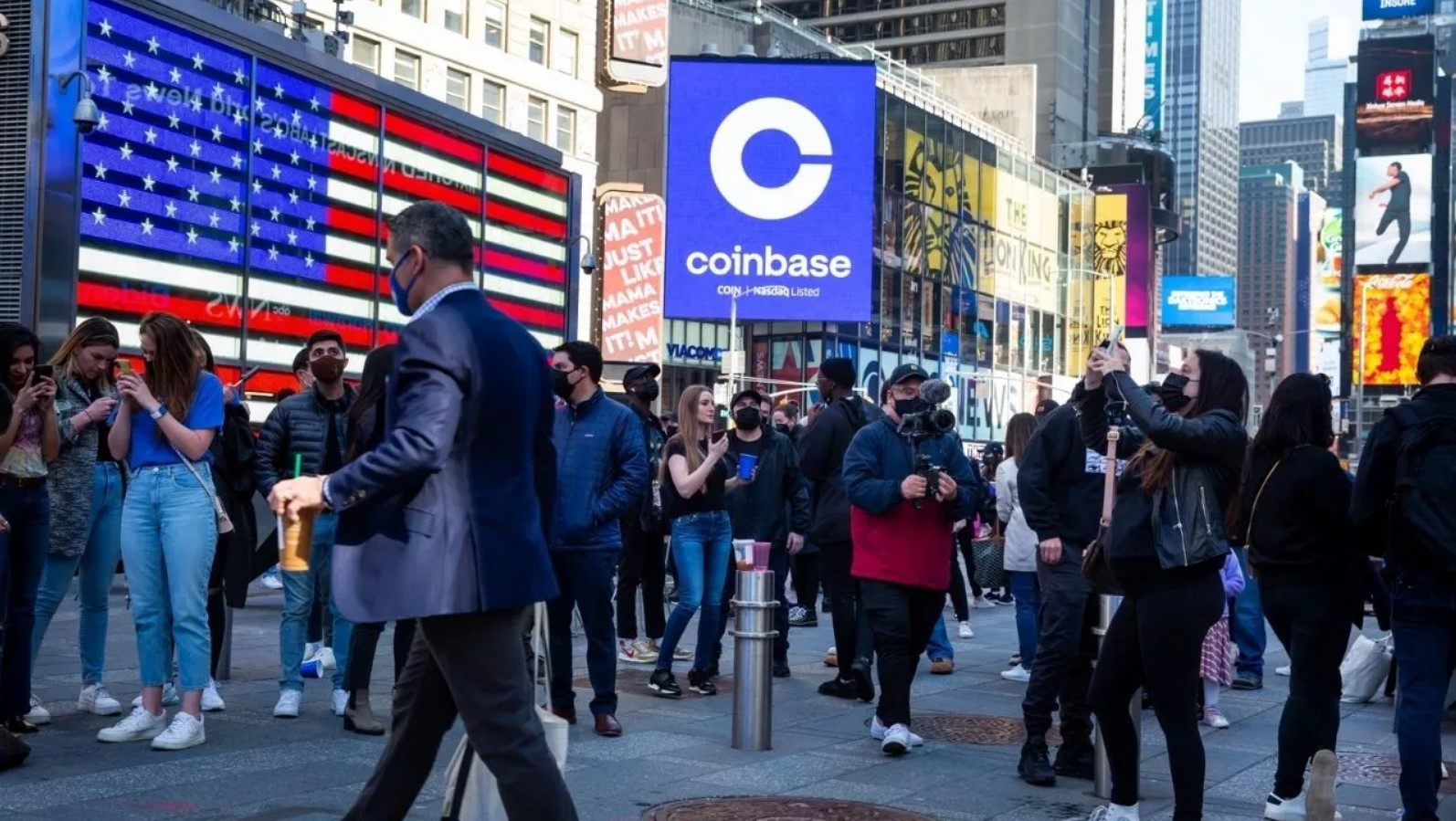 Coinbase advertisement in New York