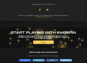 Fairspin contact info