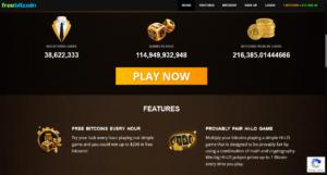 FreeBitcoin user and winning information