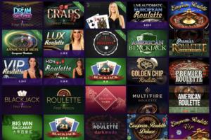 Haz casino table games