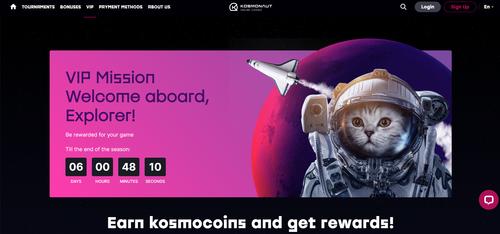 Kosmonaut Casino VIP mission